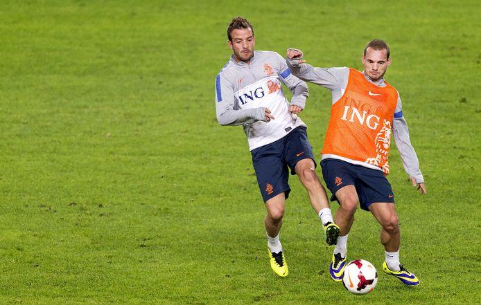 Van der Vaart en Sneijder.