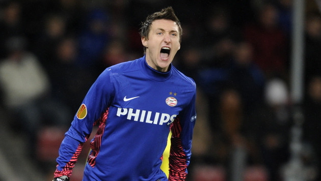 Doelman Przemyslaw Tyton: ook volgend seizoen PSV'er. © PRO SHOTS