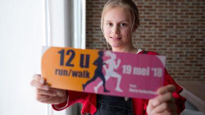 Jytte (12) organiseert 12 urenloop