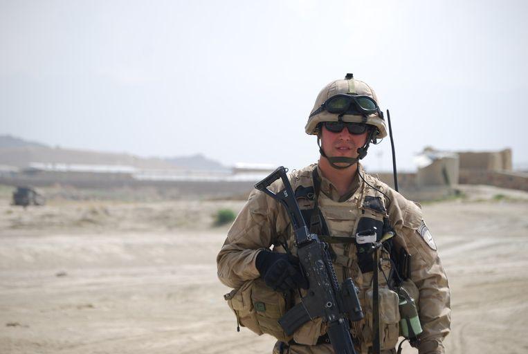 Ex-officier Michael Rummens op missie.