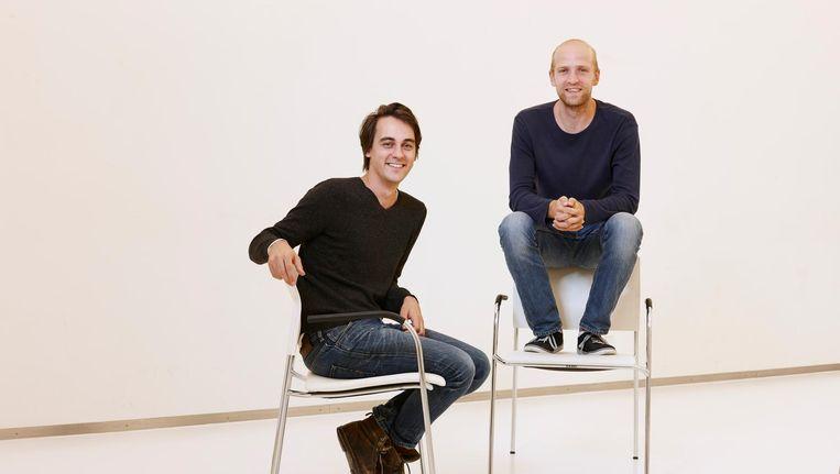 Blendle-oprichters Alexander Klöpping en Marten Blankesteijn. Beeld Mark Horn