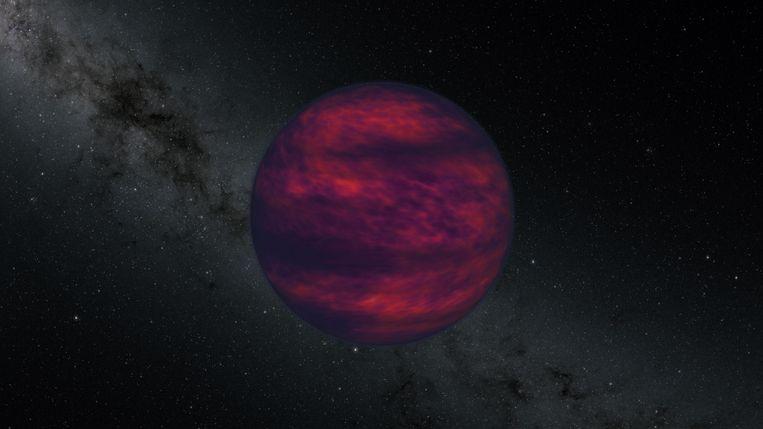 Tekening van een bruine dwerg Beeld NASA/JPL-Caltech
