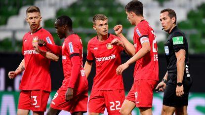 Bayer Leverkusen kent weinig moeite op bezoek bij Werder Bremen en wint met 1-4