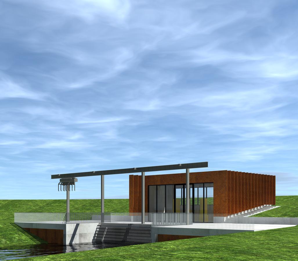 Architect Sjouke Westhoff tekende voor het ontwerp van het nieuwe gemaal De Broekhuizen dat op een goed zichtbare plek vlakbij de N340 gebouwd gaat worden.