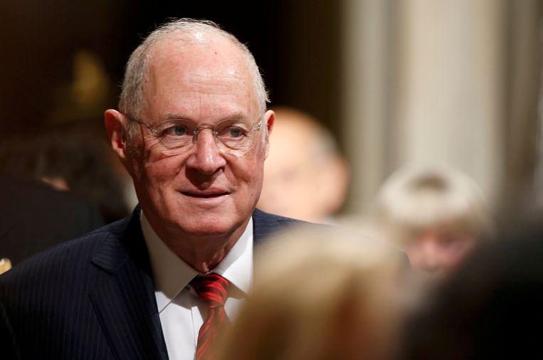 Anthony Kennedy, die bekend staat als gematigde conservatief, kondigde onlangs zijn functie als rechter bij het Amerikaans Hooggerechtshof neer te leggen.  Beeld REUTERS
