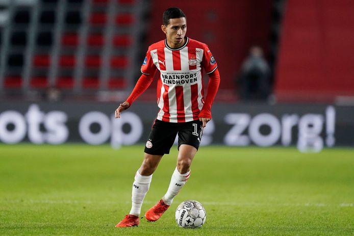 Mauro Jaqueson Junior Ferreira dos Santos, oftewel Mauro Júnior in het shirt van PSV.