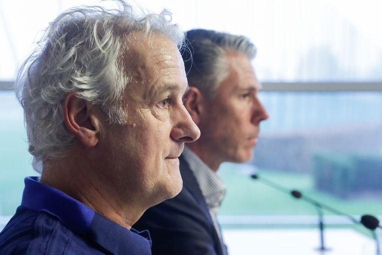 Op de voorgrond Fred Rutten, op de achtergrond Michael Verschueren (archiefbeeld).