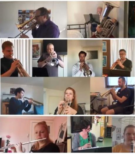 Inventief Vierdaagse Orkest brengt muzikale groet vanuit eigen huiskamers