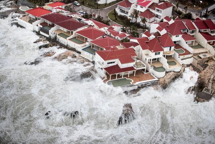 Orkaan Irma richtte verwoestingen aan op Sint Maarten.