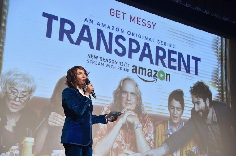 Jill Soloway bij de première van het tweede seizoen van Transparent Beeld afp