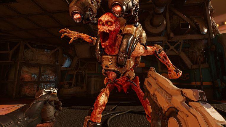 Hellegebroed aan gruzelementen schieten in Doom VFR: u kunt er gewend aan worden.