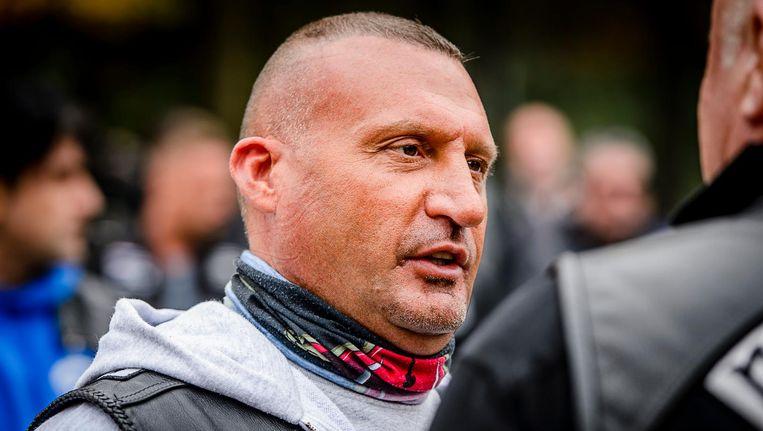De ex-president van No Surrender Klaas Otto zit momenteel vast op verdenking van afpersing, witwassen, brandstichting. Beeld anp