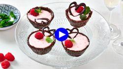 Zo scoor je op valentijn bij een foodie: liefdesdessert met chocolade en framboos