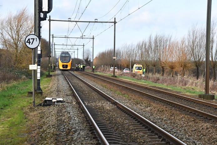 Hert treinverkeer lag vanmiddag stil tussen Goes en kruiningen na een aanrijding.