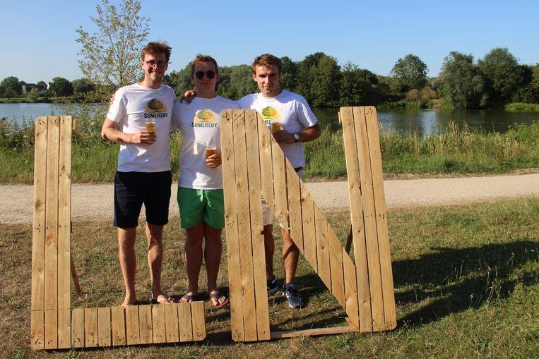 Sander, Lowie en Henri organiseren voor de derde keer Lake Night aan de Donk in Oudenaarde