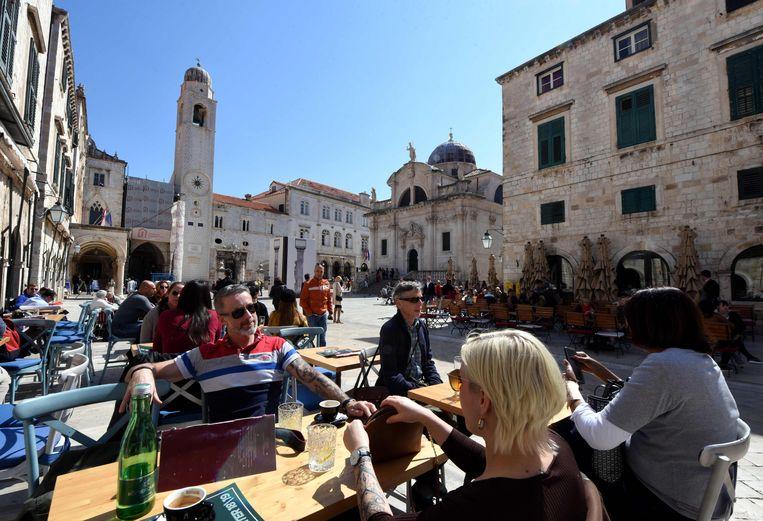 Toeristen in Dubrovnik.