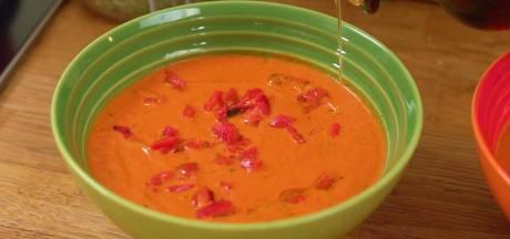 Koken met Blik: heerlijke soep met gegrilde paprika uit pot