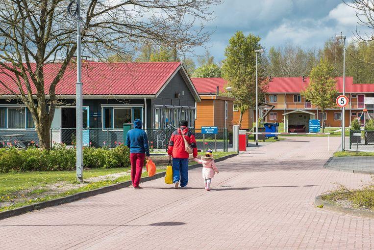 Een inmiddels gesloten asielzoekerscentrum in Oude Pekela. Beeld Archiefbeeld ANP