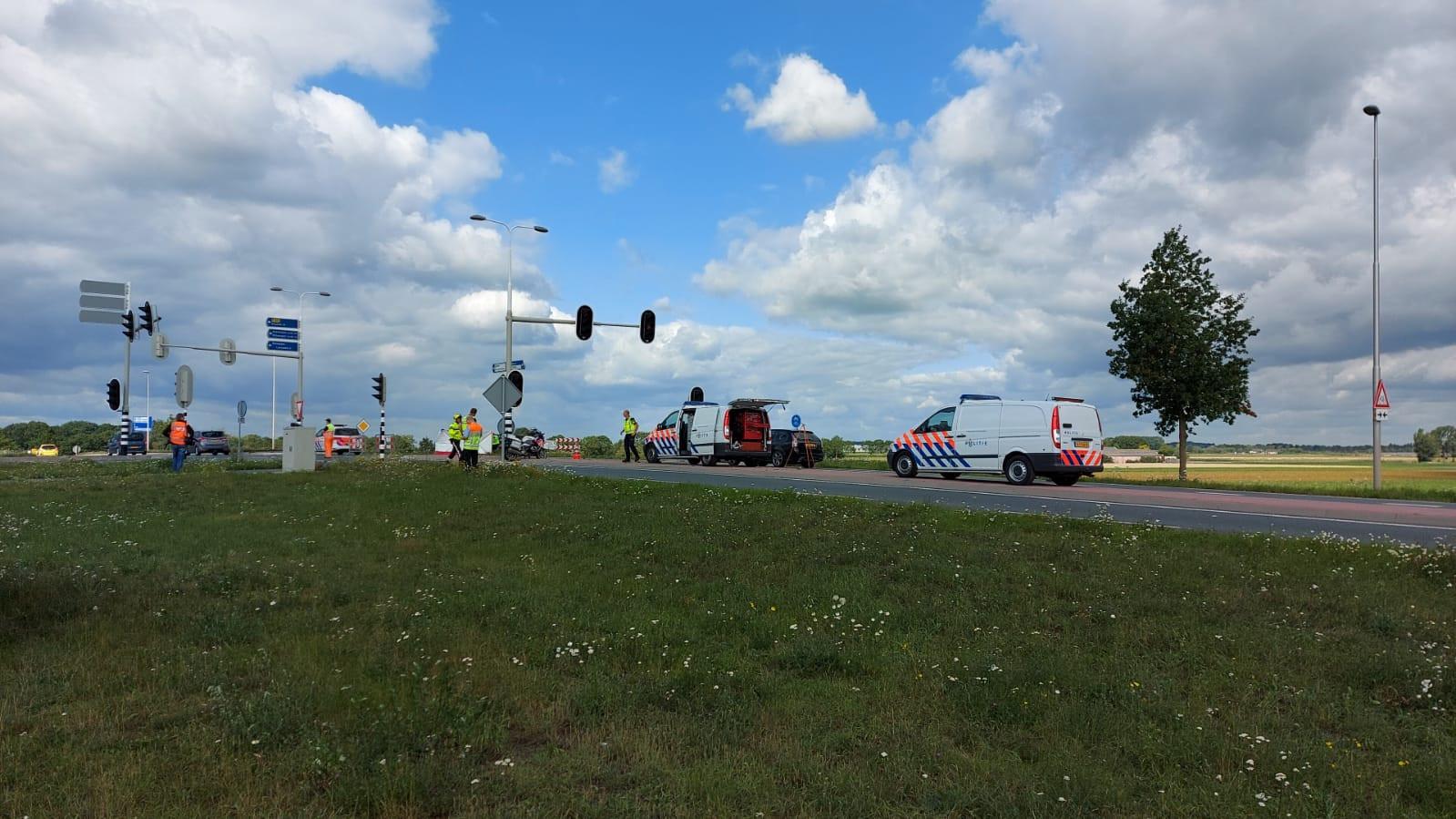 De plek van het ongeluk bij Echteld.