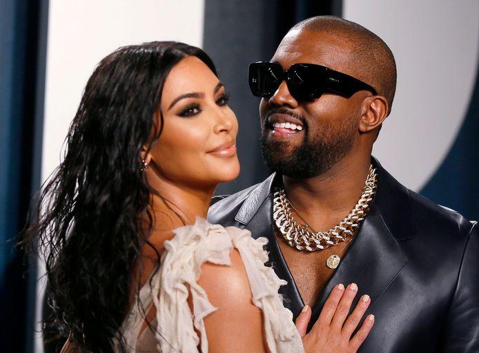 Kim Kardashian en haar man Kanye West.