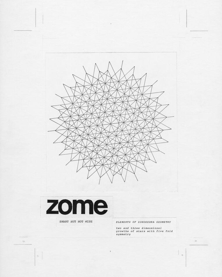 De collage die Jim Campers maakte uit de Whole Earth Catalog. Beeld Jim Campers