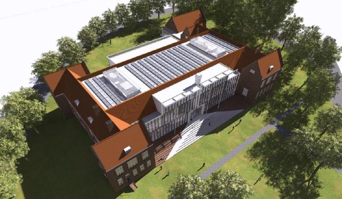 De nieuwbouw van het JvO Gymnasium loopt vertraging op.