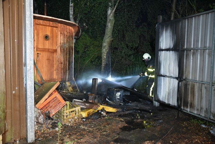 Brand bij pipowagen in Gilze