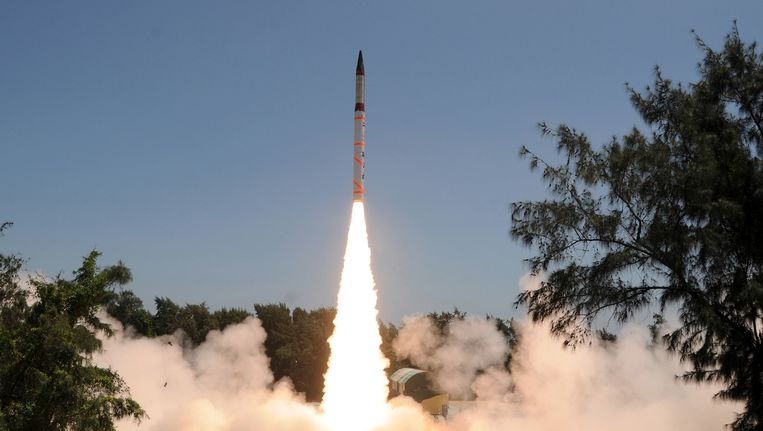 De Agni-IV-raket.