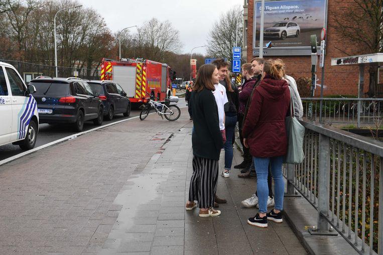 De studenten werden geëvacueerd.