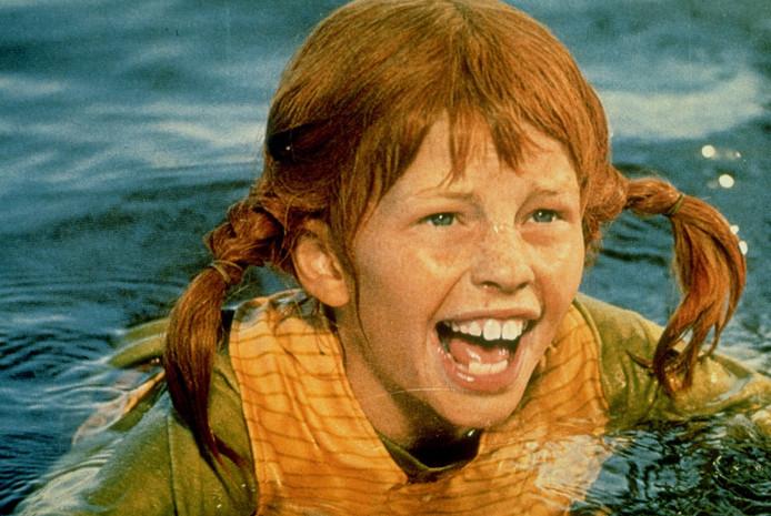 Inger Nilsson als de stoere superzelfbewuste Pippi Langkous.