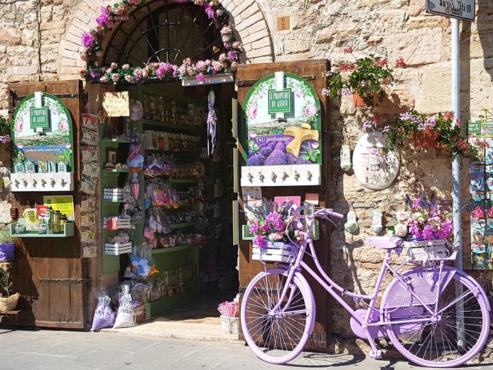 Mooi paars is niet lelijk. Zeker niet in Assisi in Italië.