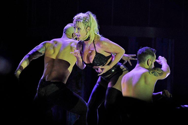 Britney Spears tijdens haar optreden in England een week geleden