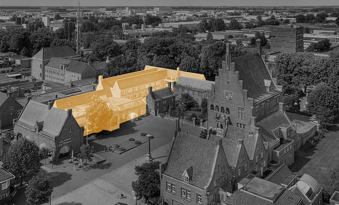 Het nieuwe schoenenmuseum in Waalwijk komt in het voormalige raadhuis op het Raadhuisplein.