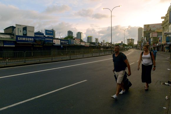 Toeristen in Colombo.