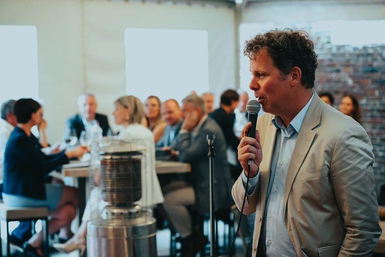 Ook burgemeester Raf Terwingen kwam de mensen toespreken.