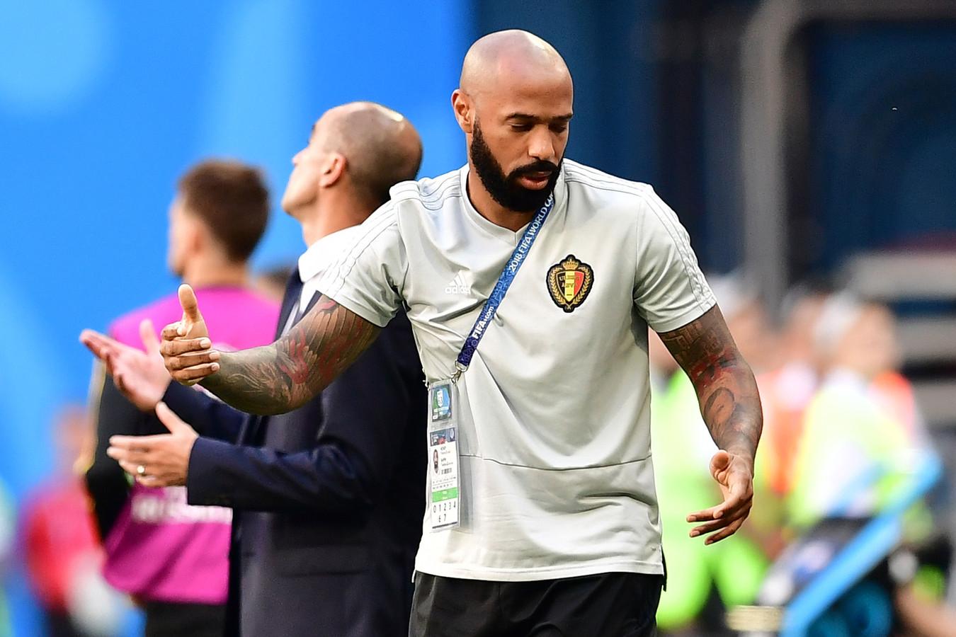 Thierry Henry was tijdens het WK assistent-coach bij België.