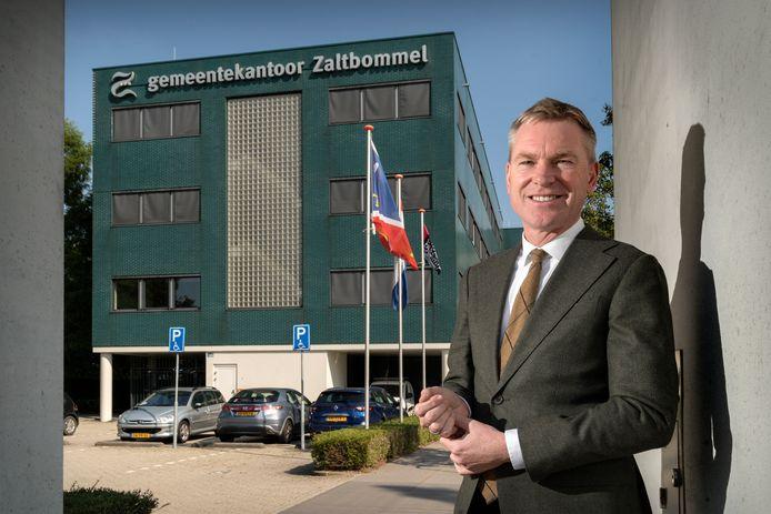 Peter Rehwinkel vlak voor zijn vertrek uit Zaltbommel.