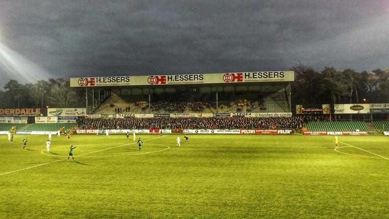 Het huidige Souvereinstadion van Lommel tijdens het seizoen 2016-2017, het laatste jaar van Lommel op profniveau.