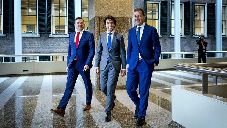 Linkse vrienden onderweg naar het debat over de regeringsverklaring. Beeld anp