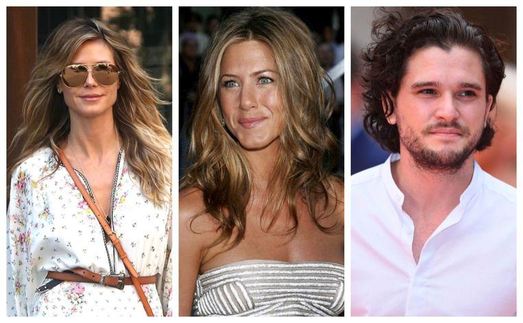 Heidi Klum, Jennifer Aniston en Kit Harington