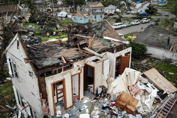 La tornade a ravagé des dizaines de maisons à Dayton, en Ohio.