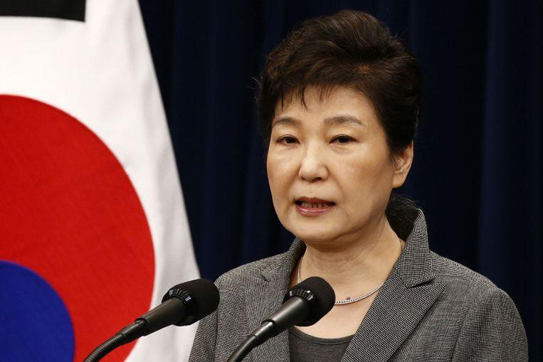 De voormalige Zuid-Koreaanse presidente Park Geun-hye.