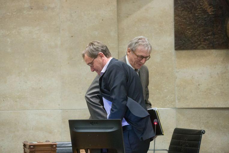 Gilbert Vanbaelen ruimt plaats voor de nieuwe voorzitter Huub Broers (N-VA).