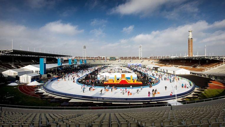 Schaatsen in het Olympisch Stadion Beeld ANP