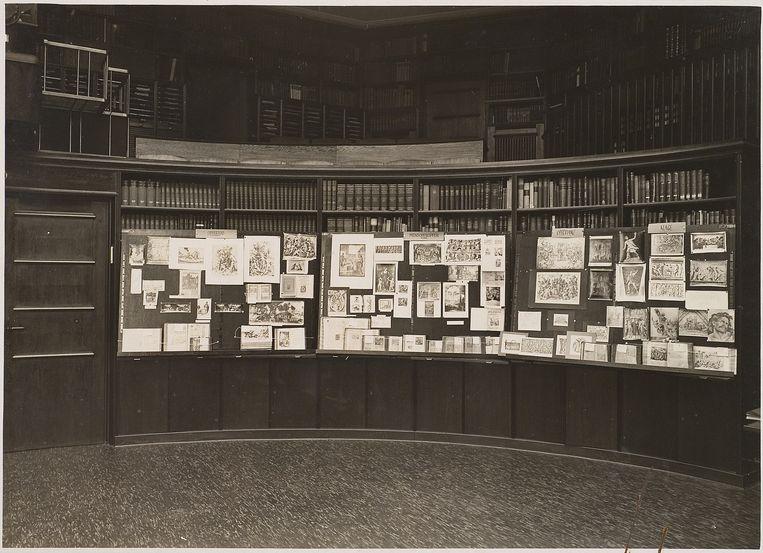 De Mnemosyne Atlas in de Kunstwissenschaftliche Bibliothek van Warburg.  Beeld Getty