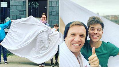 SHOWBITS. BV's hangen massaal wit laken buiten uit solidariteit met hulpverleners