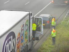 Botsing tussen vrachtwagen en auto's bij afrit Prinsenbeek