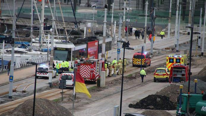 La victime s'est retrouvée sous le tram ce lundi vers 12H45. L'accident s'est déroulé non loin de la gare d'Ostende.