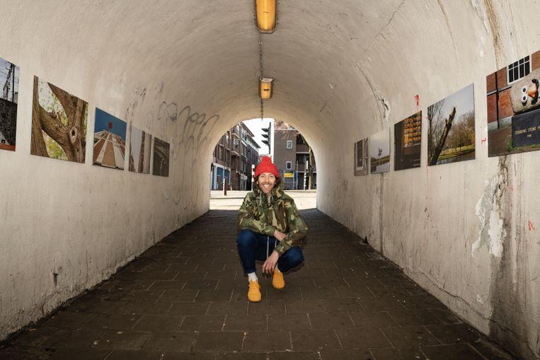 Streetart Frankey in de voetgangerstunnel Tussen de Bogen. Beeld