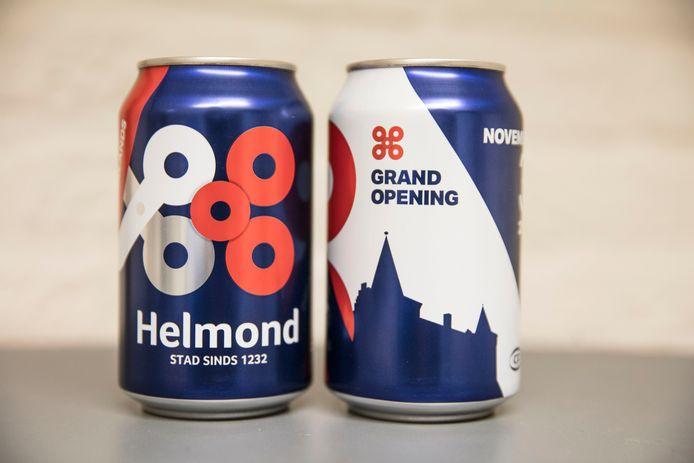 Speciaal voor de opening maakte Canpack een Helmonds blikje bier.